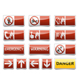 Danger warning sign set vector image vector image