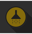 dark gray and yellow icon - shower vector image vector image