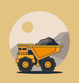 dump truck vehicle vector image