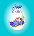 easter spring flowers paschal egg greeting vector image vector image