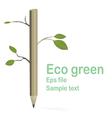 eco green vector image vector image