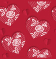 elegant seamless pattern valentines day with lacy vector image vector image