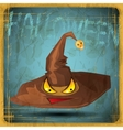EPS10 vintage grunge old card Halloween magical vector image vector image