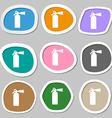 extinguisher icon symbols Multicolored paper vector image