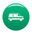 fast ambulance icon green vector image vector image