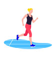 fit woman running young female athlete doing vector image