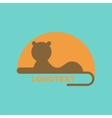 flat icon on background lion logo vector image vector image