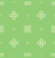 floral seamless pattern clover leaves shamrock vector image vector image