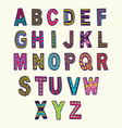 font in doodle style letters set vector image