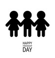 happy friendship day two black woman female and vector image