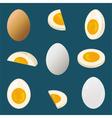 Hard boiled egg vector image vector image