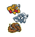 ice hockey sports mascot collection vector image vector image