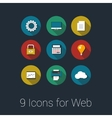 Icons for Web and Mobile Applications vector image vector image