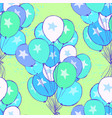 ink hand drawn seamless pattern with balloons vector image
