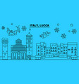 italy lucca winter holidays skyline merry vector image vector image