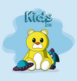 kids doodle icons vector image