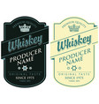 labels for whiskey with inscription and crown vector image vector image