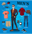 men fashion vector image