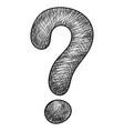 question mark grunge style hand drawn doodle vector image vector image
