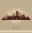 raleigh north carolina city skyline silhouette vector image