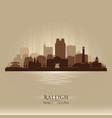 raleigh north carolina city skyline silhouette vector image vector image