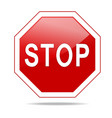 Red stop sign vector image vector image