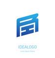 ri - dynamic logo r and i - initials monogram or vector image vector image