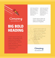 rocket business company poster template with vector image