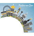 rostov-on-don russia city skyline with color vector image vector image