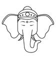 Sacred elephant india vector image vector image