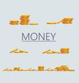 saving dollar coin in jar concept vector image vector image