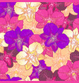 seamless floral pattern pink orchids vector image vector image