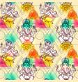 seamless pattern ganesha vector image vector image