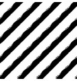 seamless pattern with brush stripes black vector image vector image