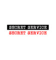 secret service rubber stamp badge with typewriter vector image