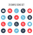 set of 20 editable banking icons includes symbols vector image vector image