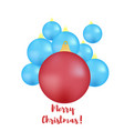 set of red and blue balls on a christmas tree vector image vector image