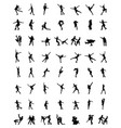 silhouettes of skaters vector image vector image