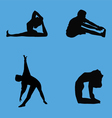 stretching collection vector image vector image