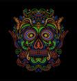 sugar skull decoration colorful vector image vector image