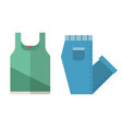 t-shirt and folded jeans icons vector image vector image