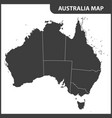the detailed map of the australia with regions vector image vector image