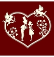 The Prince and the Princess the cupids vector image vector image