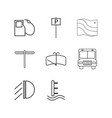 transport and transportation linear icon set vector image