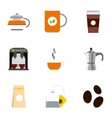 Types of drinks icons set flat style vector image vector image