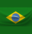 waving national flag of brazil vector image vector image