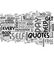 where do you get your daily success quotes text vector image vector image