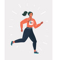 young woman in sportwear running vector image vector image