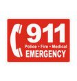 911 emergency call phone icon vector image vector image