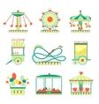 Amusement Park Elements Set vector image vector image